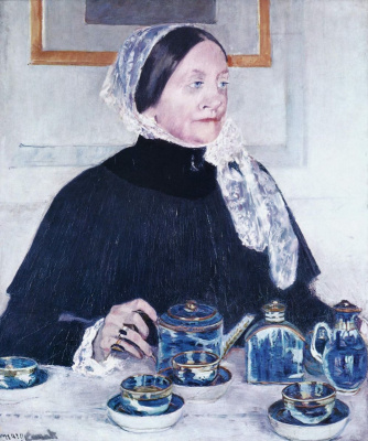 Mary Cassatt. Lady at the tea table