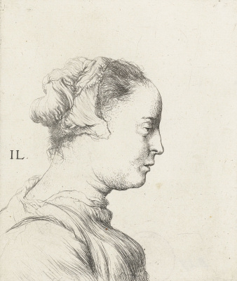 Jan Lievens. Bust of a young woman