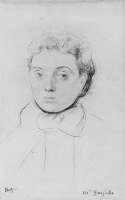 Edgar Degas. Portrait Of Josephine Goelan