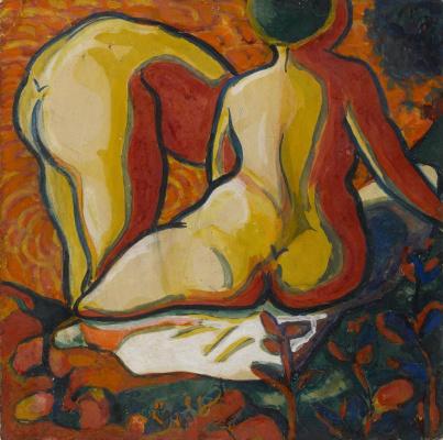 Kazimir Malevich. Bathers, rear view