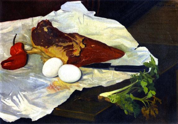Felix Vallotton. Meat and eggs