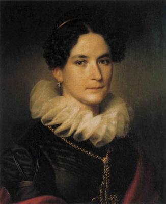 Иоганн Питер Крафт. Женский портрет