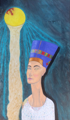 Serge Jagat. The beauty of the Berlin Bohemia (Nefertiti), bathing in the sun