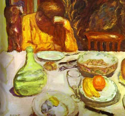Pierre Bonnard. At the table