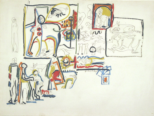 Jackson Pollock. Animals and figures