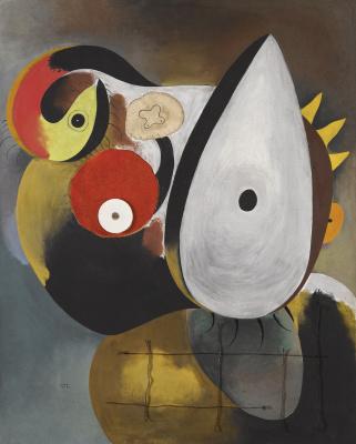 Joan Miro. Portrait of a man