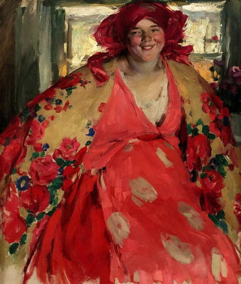 Abram Arkhipov. Happy girl