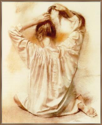 Уильям Уитакер. Девушка с длинными волосами