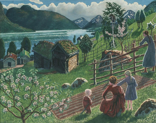 Nikolay Astrup. Good weather on Sandstrand