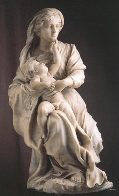 Пьер Пьюджет. Дева с младенцем и святыми