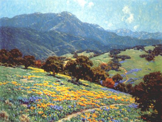 Гранвиль Редмонд. Калифорнийские маковые поля