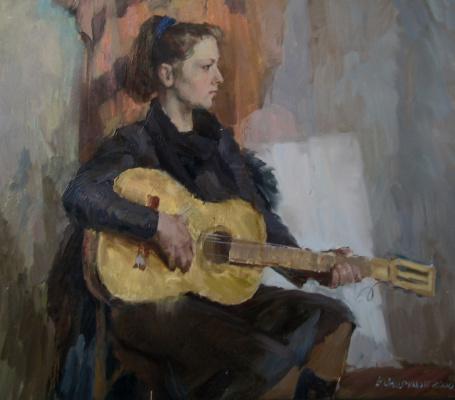 Борис Анатольевич Студенцов. Девушка с гитарой