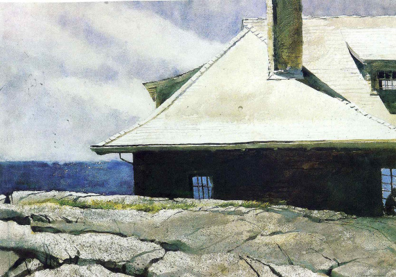 Jamie Wyeth. Reading man