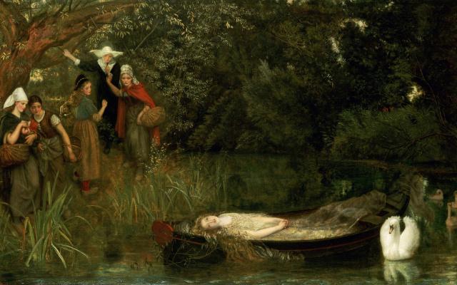 Arthur Hughes. Sorceress Shalott