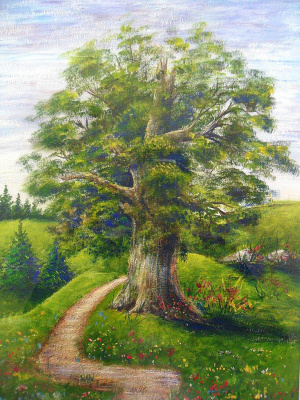 Julia Sergeevna Pimenova. Summer Landscape