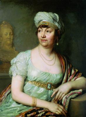 Vladimir Lukich Borovikovsky. Portrait of writer Anne Louise Germaine de Stael