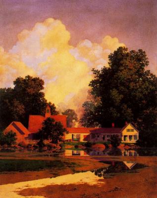 Maxfield Parrish. Summer at Daniels Farm