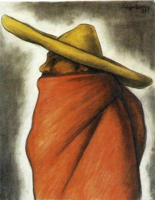 Диего Мария Ривера. Шляпа