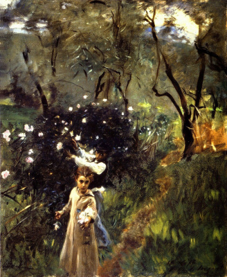 Джон Сингер Сарджент. Дети, собирающие цветы