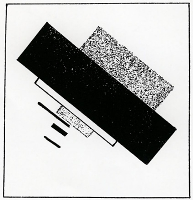 "Kazimir Malevich. Lithograph from the album ""Suprematism. 34 of drawing"""