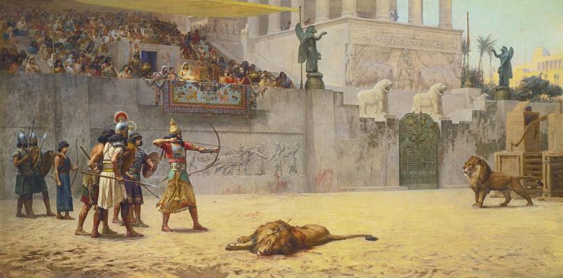 Frederick Arthur Bridgman. Entertainment the Assyrian king