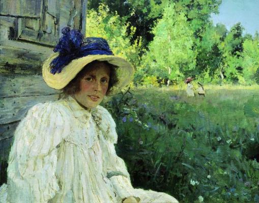 Valentin Aleksandrovich Serov. Summer. Portrait Of Olga Serova