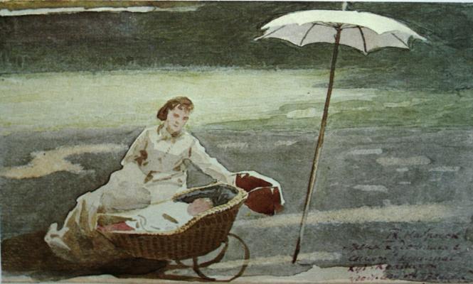 Иван Николаевич Крамской. Софья Николаевна Крамская с сыном