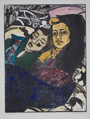 Erich Heckel. Two girls
