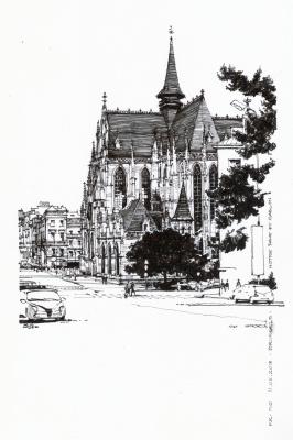 Sergey Vyacheslavovich Kravchenko. Notre-Dame du Sablon (XIV-XVI). Brussels (Notre Dame du Sablon. Brussels)