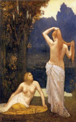 Pierre Cecil Puvi de Chavannes. Half-naked nymphs