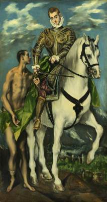 Domenico Theotokopoulos (El Greco). St. Martin and the beggar