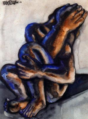 Fernando Botero. Crying woman
