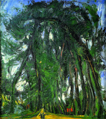 Chaim Soutine. The alley of trees