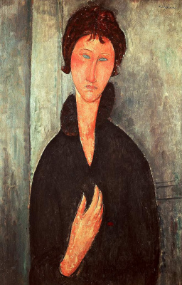 Amedeo Modigliani. Woman with blue eyes