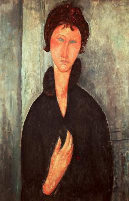 Амедео Модильяни. Женщина с голубыми глазами