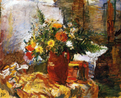 Oskar Kokoschka. Large bouquet