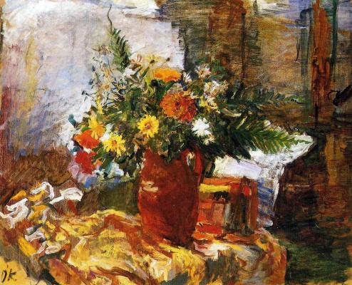 Oskar Kokoschka. Large bouquet