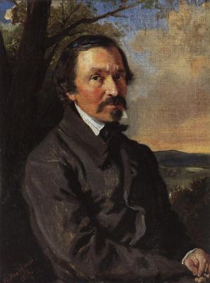 Konstantin Makovsky. Portrait Of N. Nekrasov