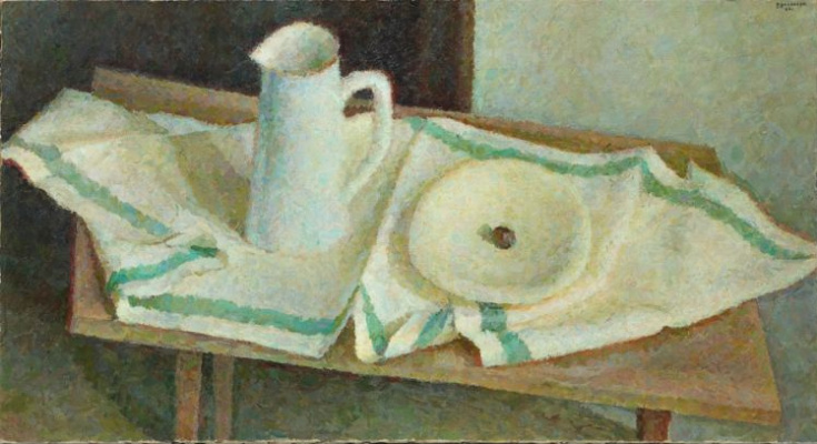 Vladimir Grigorievich Weisberg. White jug and bowl on a towel
