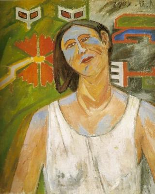 Mikhail Larionov. Portrait of Natalia Goncharova