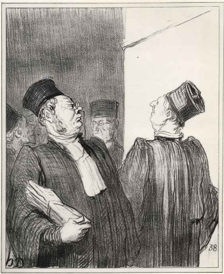 Honore Daumier. - If you hacked mine, your gonna sue!
