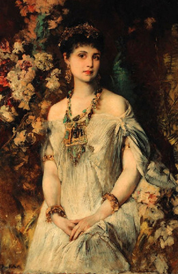 Hans Makart. A girl in Egyptian outfit