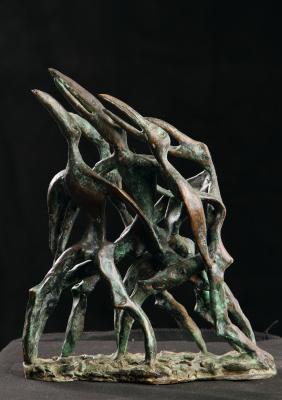 Yuri Shikin. Birds (first part of diptych)