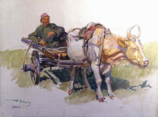 Георгий Константинович Савицкий. Крестьянин на телеге