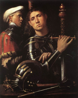 Giorgione. Warrior and his stable
