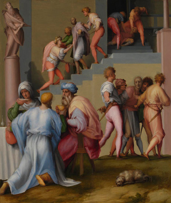 Jacopo Pontormo. Pharaoh with his butler and baker