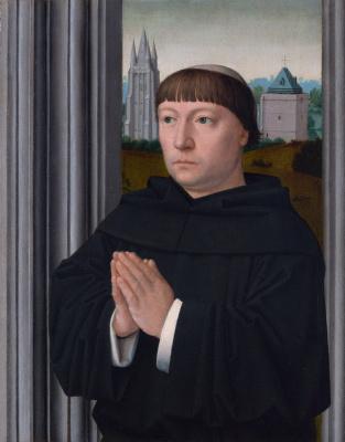 David Gerard. An Augustinian friar praying