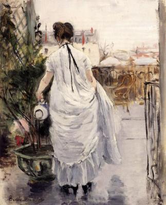Berthe Morisot. Young woman watering a Bush