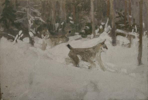 Alexey Stepanovich Stepanov (1858-1923). Lynx. 1910s