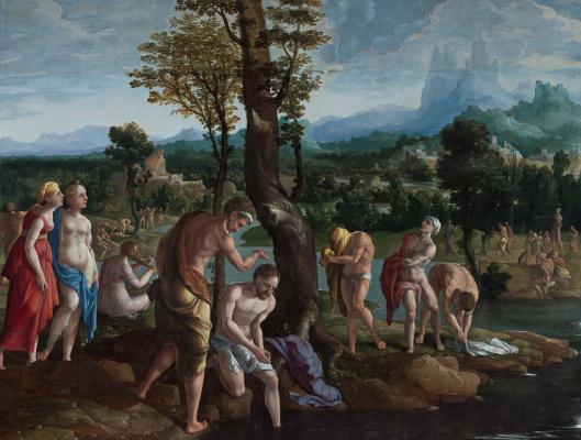 Ян ван Скорел. Крещение Христа